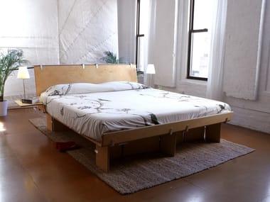 Wooden double bed PLATFORM BED
