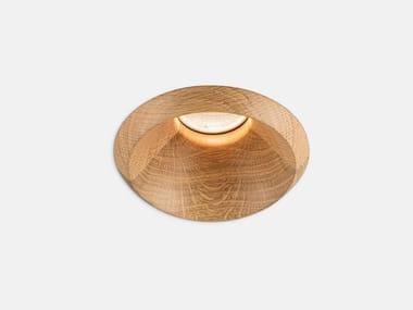 LED round recessed oak spotlight PLAY RAW AG59   Oak spotlight