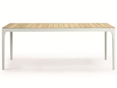 Rectangular wooden garden table PLAY | Garden table