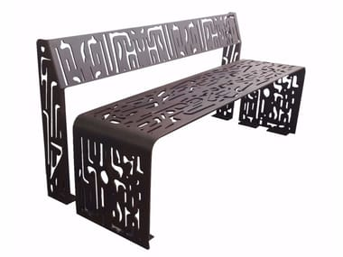 Bench with back PLEGADO