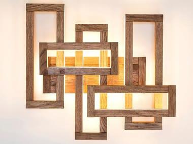 Lampada da parete a LED in legno PLEX