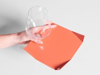 Cocktail square metal plate PLIÈ | Plate