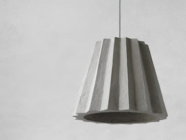 Direct light Recycled paper pendant lamp PLISE