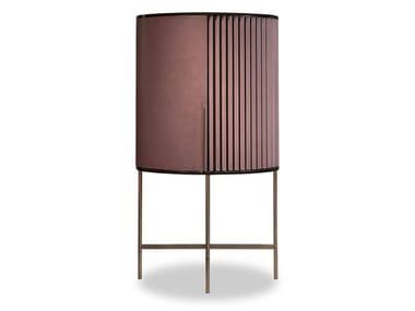 Mueble bar de cuero con luces integradas PLISSÉ | Mueble bar