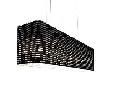LED width-adjustable pendant lamp PLISSÉ