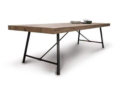 Tavolo rettangolare in legno PLOMBIER | Tavolo