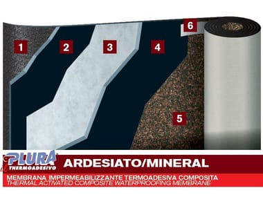 Self-protected membrane with slate granules PLURA THERMO AD MINERAL
