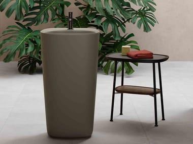 Lavabo sur pied en céramique PLURAL | Lavabo sur pied