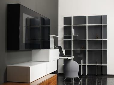 Open modular bookcase PLUS