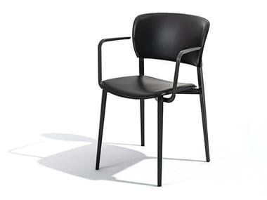 Sedia impilabile in polipropilene con braccioli PLY | Sedia con braccioli
