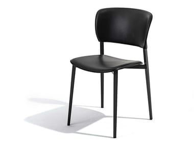 Sedia impilabile in polipropilene con schienale aperto PLY | Sedia impilabile