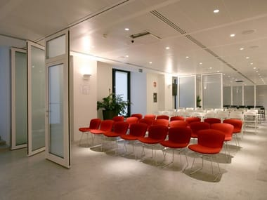 Glass movable sound-proof partition walls PMIV - GLASS