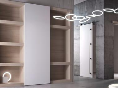 Lacquered sliding wooden cabinet door POEMA | Cabinet door