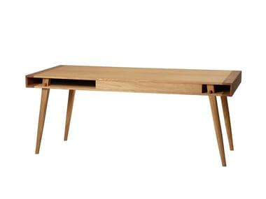 Tavolino da caffè rettangolare in legno massello POET | Tavolino