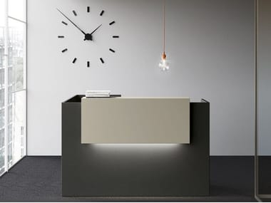 Office reception desk with Built-In Lights POINT