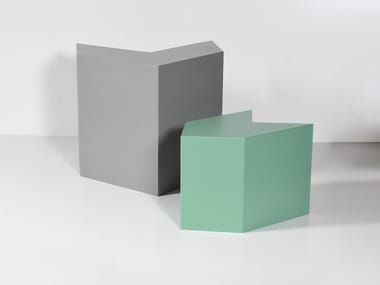 Coated foam pouf / coffee table POINTER