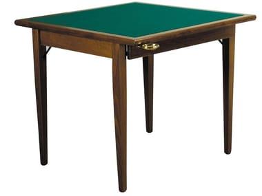 Table de poker carrée en bois POKER