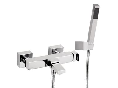 Wall-mounted single handle bathtub mixer with hand shower POLAR | Wall-mounted bathtub mixer