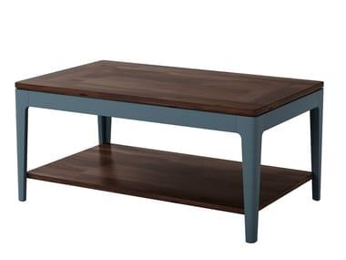 Low rectangular acacia coffee table POLLO | Coffee table