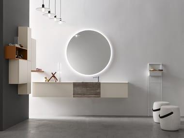 Sistema bagno componibile in legno POLLOCK - COMPOSIZIONE 61
