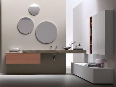 Sistema bagno componibile in legno POLLOCK - COMPOSIZIONE 68