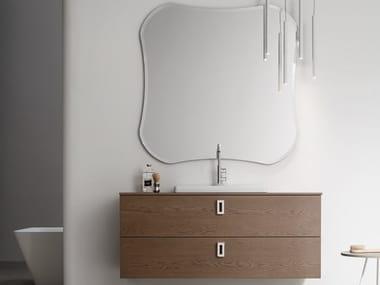 Sistema bagno componibile in legno e vetro POLLOCK - COMPOSIZIONE 70