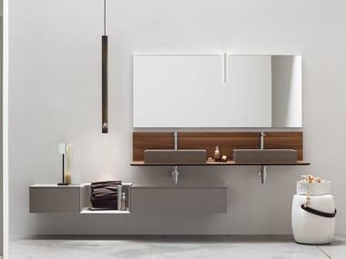 Sistema bagno componibile in legno POLLOCK - COMPOSIZIONE 71