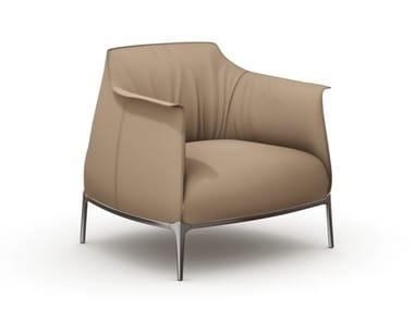 Leather armchair with armrests POLTRONA FRAU - ARCHIBALD