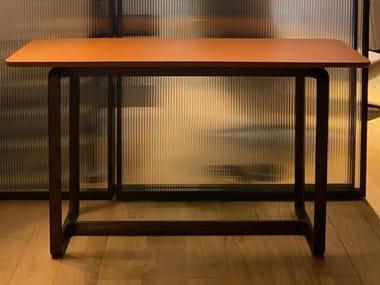 Rectangular console table POLTRONA FRAU FIDELIO Saddle E. Cammello