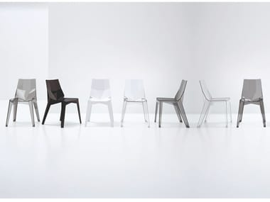 Stackable polycarbonate chair POLY