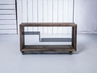 Solid wood food trolley HI-FI RACK