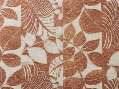Printed linen fabric POLYNÉSIE