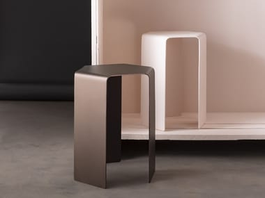 Stackable metal side table PONANT | Side table