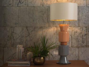 Stained glass table lamp with fixed arm PONN PONN