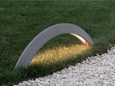 Lampada da terra per esterno a LED in cemento PONT