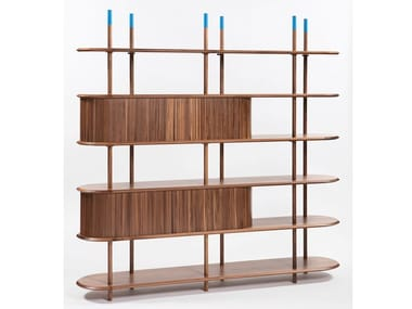 Walnut bookcase PONTILE