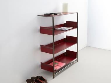 Lacquered powder coated steel shelving unit POOL 110