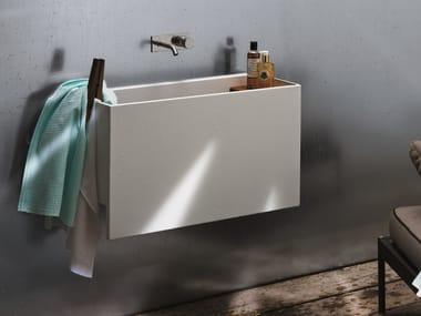 Lavabo in acciaio con porta asciugamani POOL