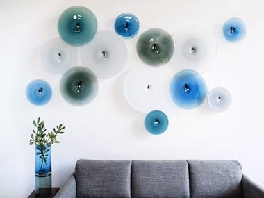 Blown glass wall decor item POOL WALLPIECE