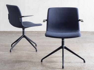 Fabric office chair with castors POLIS