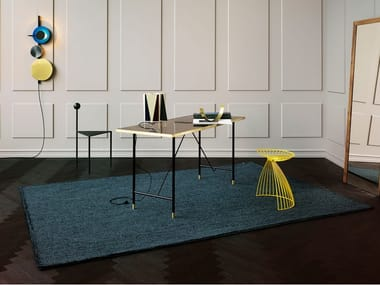 Hand tufted bouclé rug in pure wool POPPY