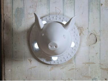 Ceramic wall lamp PORCAMISERIA