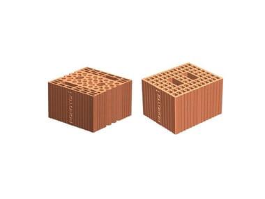Clay building block POROTON ACUSTIC
