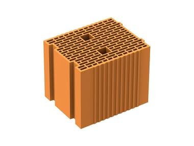 Thermal insulating clay block POROTON PLAN TS