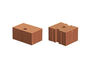 Loadbearing clay block for reinforced masonry POROTON block for reinforced masonry