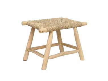 Teak stool with footrest PORTO   Stool