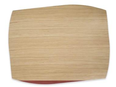 Tovaglietta rettangolare in legno PORTOFINO OAK RED BRICK TULIPIÈ   Tovaglietta rettangolare