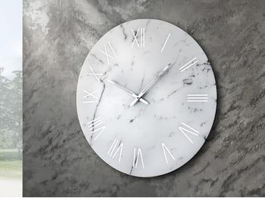 Wall-mounted screen printed glass clock PORTOFINO
