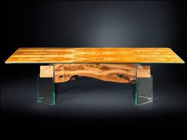 Rectangular wood and glass table PORTOFINO | Rectangular table