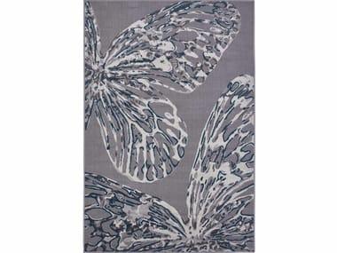 Rectangular polypropylene outdoor rugs DAFNE FARFALLE